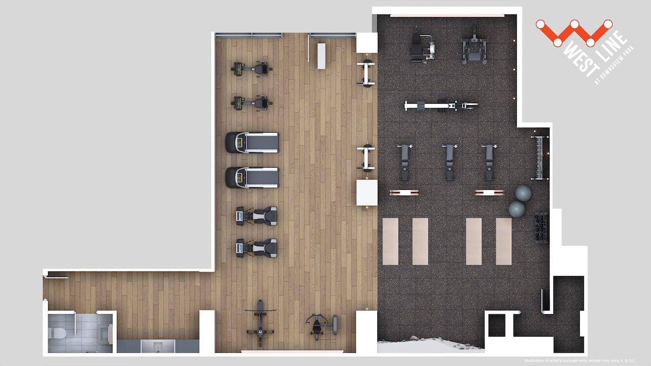 WestLine Condos amenity plan