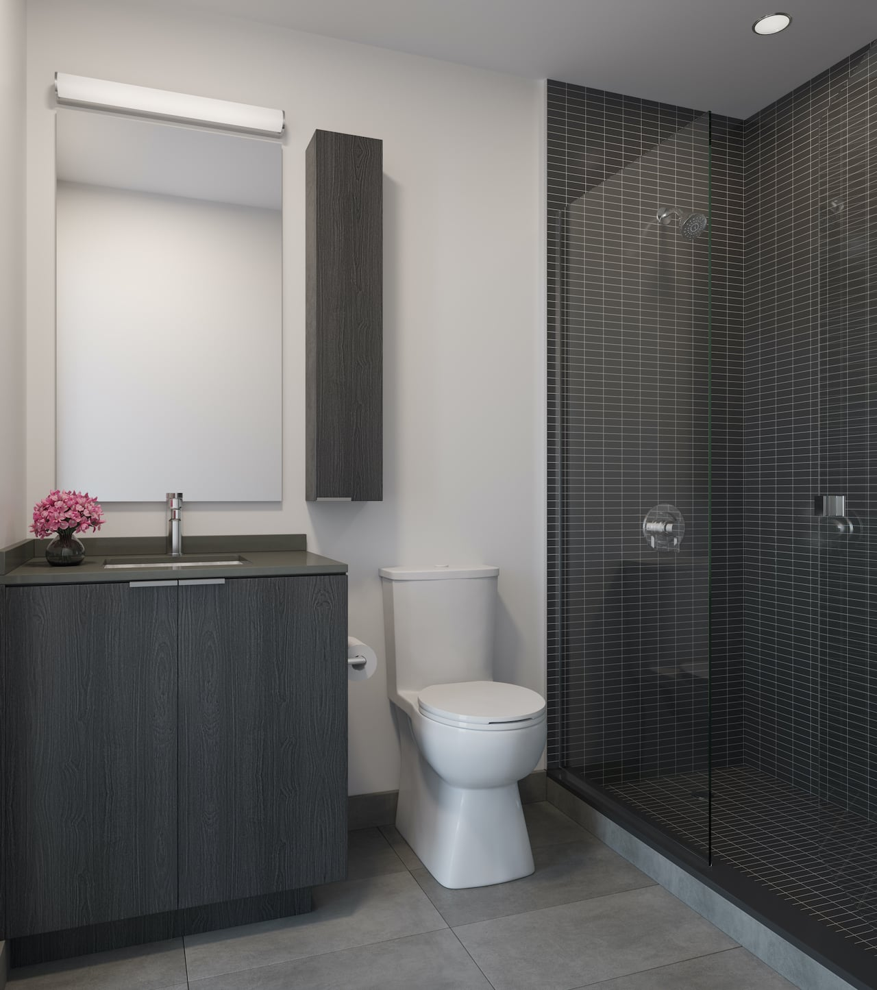 Rendering of Arte Residences bathroom ombre
