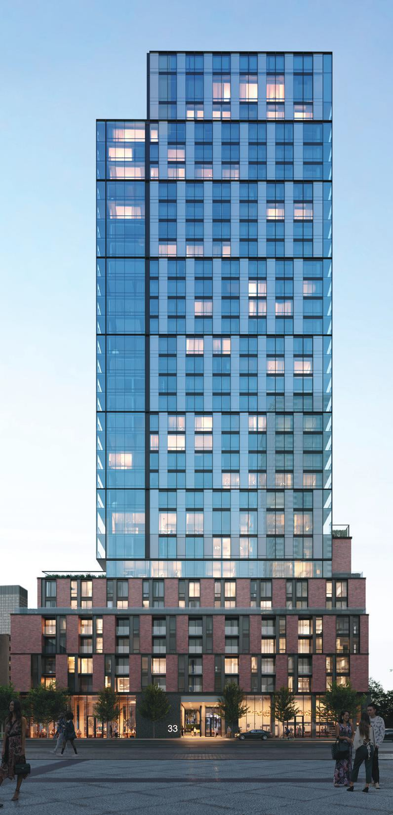 Exterior full view rendering of The GOODE Condos