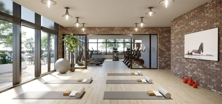 Rendering of The Millhouse Condos fitness centre