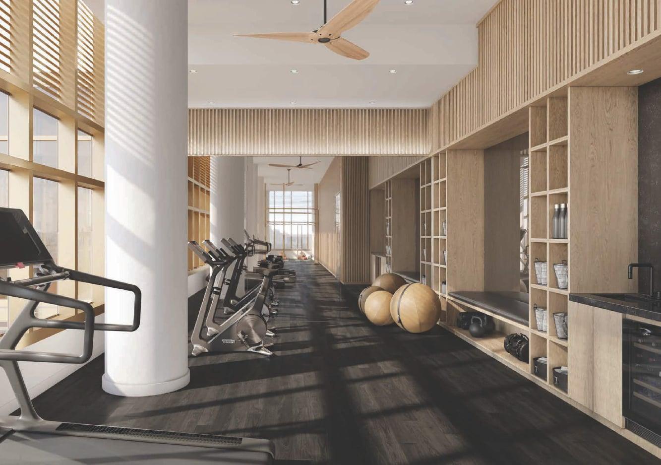 Rendering of Cielo Condos interior gym