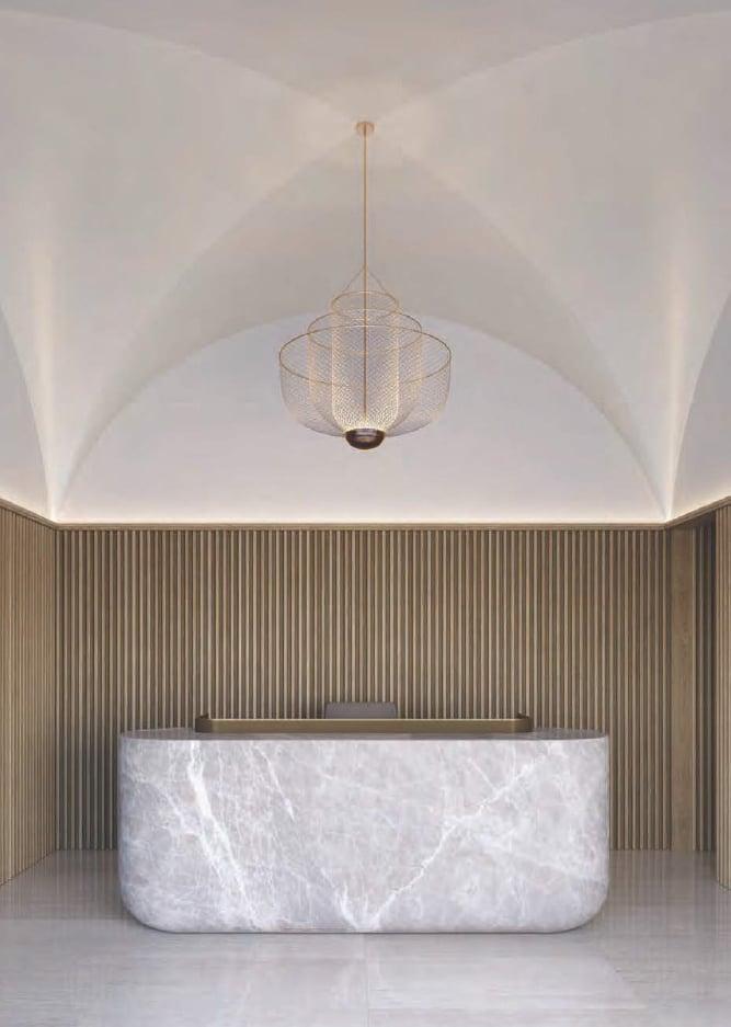 Rendering of Cielo Condos interior lobby