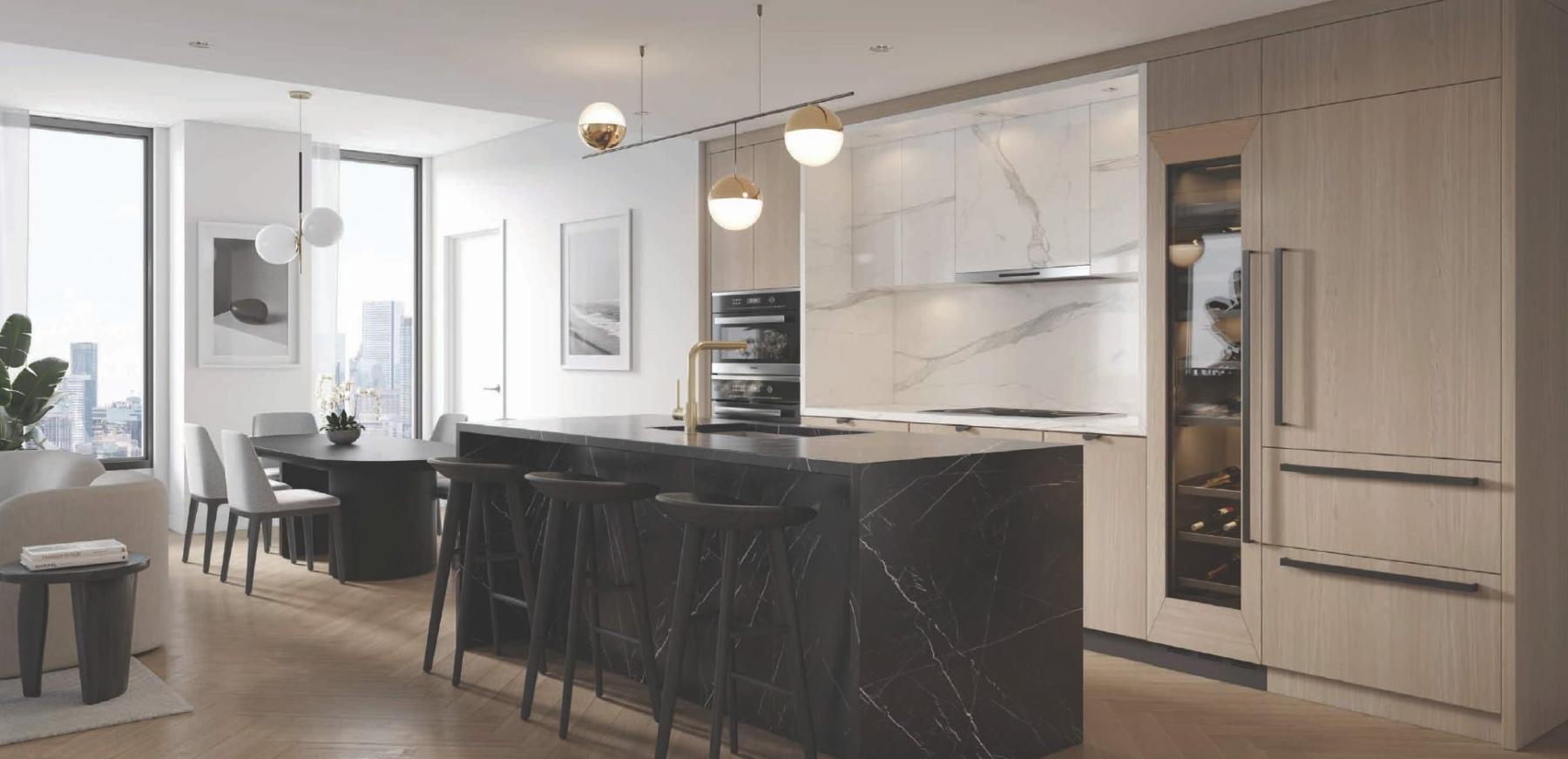 Rendering of Cielo Condos interior suite kitchen