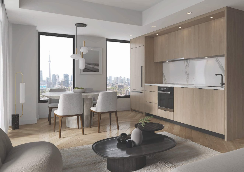 Rendering of Cielo Condos interior suite open-concept