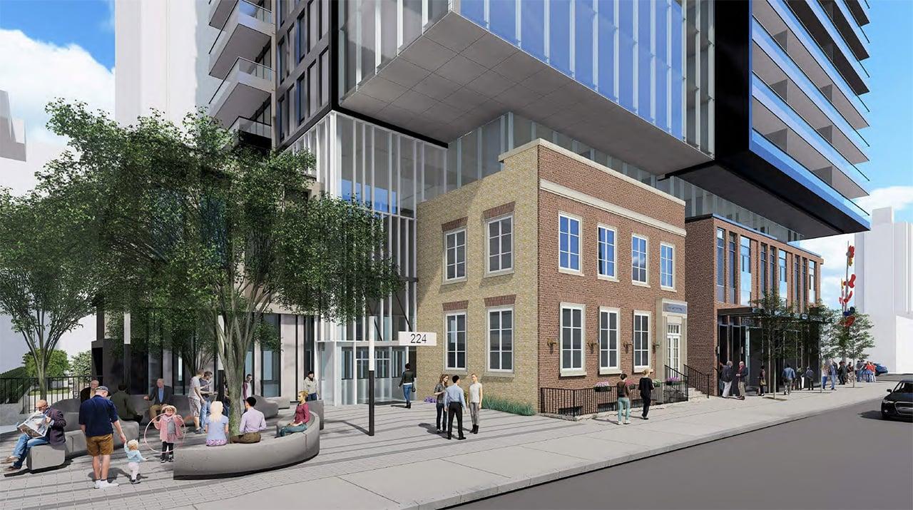 Rendering of 148 Avenue Condos exterior entrance