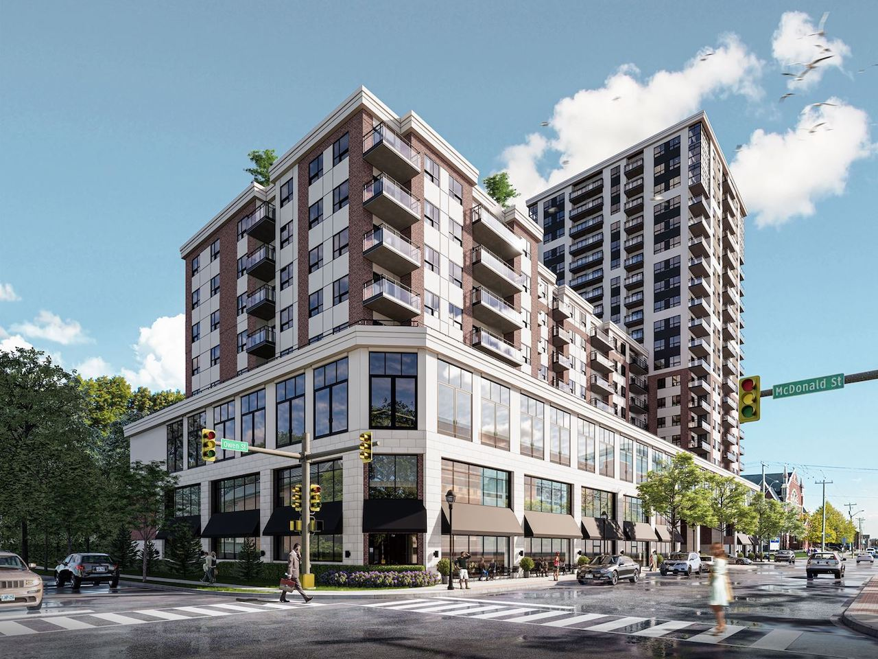 Rendering of The Residences On Owen exterior and streetview