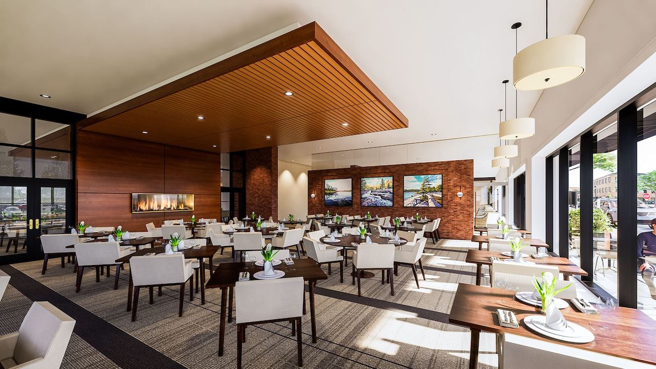Rendering of The Residences On Owen interior dining room