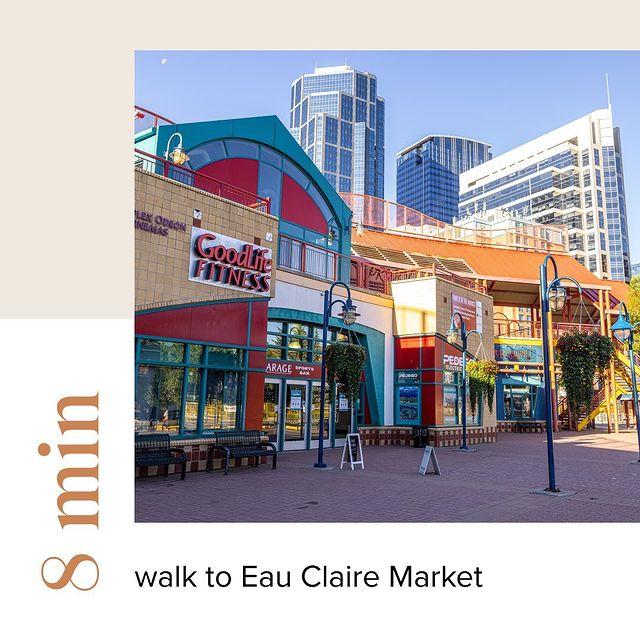 First & Park is 8 min walk to Eau Claire Market