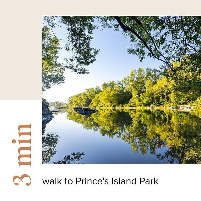First & Park is 3 min walk to Prince's Island Park