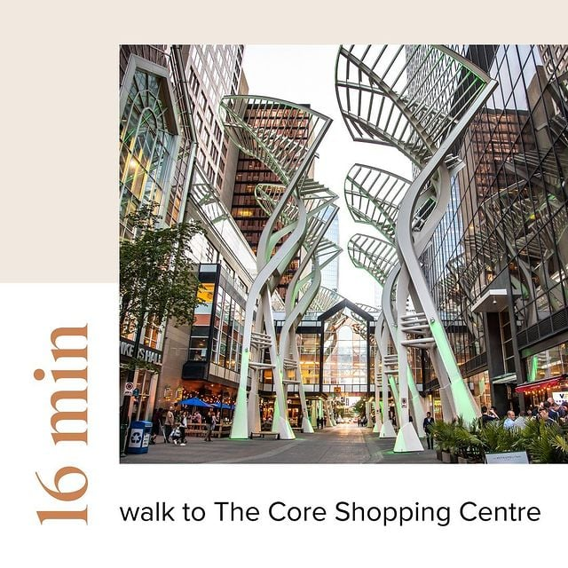 First & Park is 16 min walk to the core shopping centre