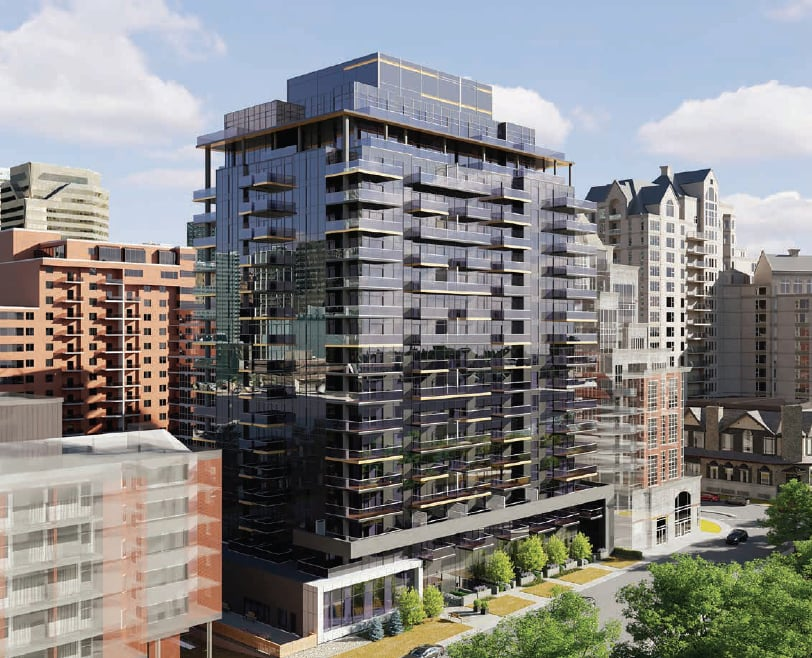 Rendering of First & Park Condos exterior