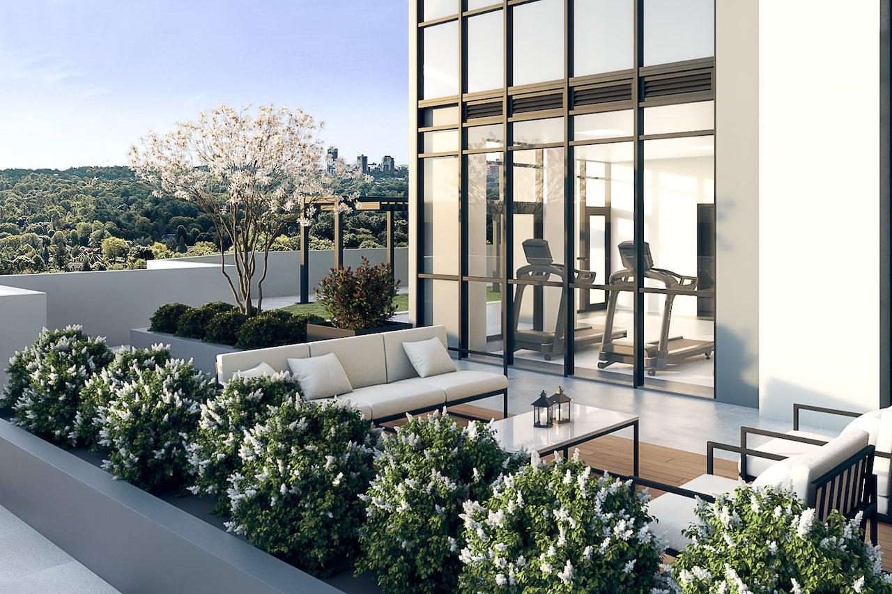 Rendering of FourMe Condos 3rd floor terrace