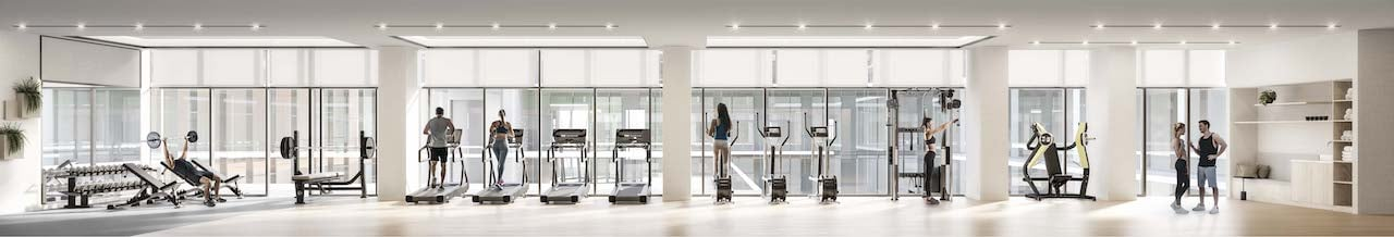 Rendering of M2M Squared Condos gym
