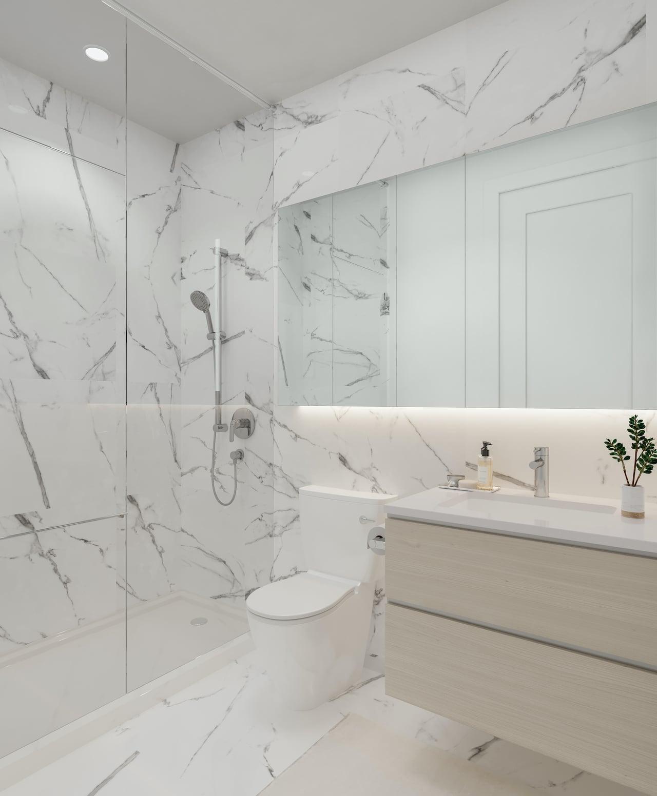 M2M Squared Condos suite interior bathroom