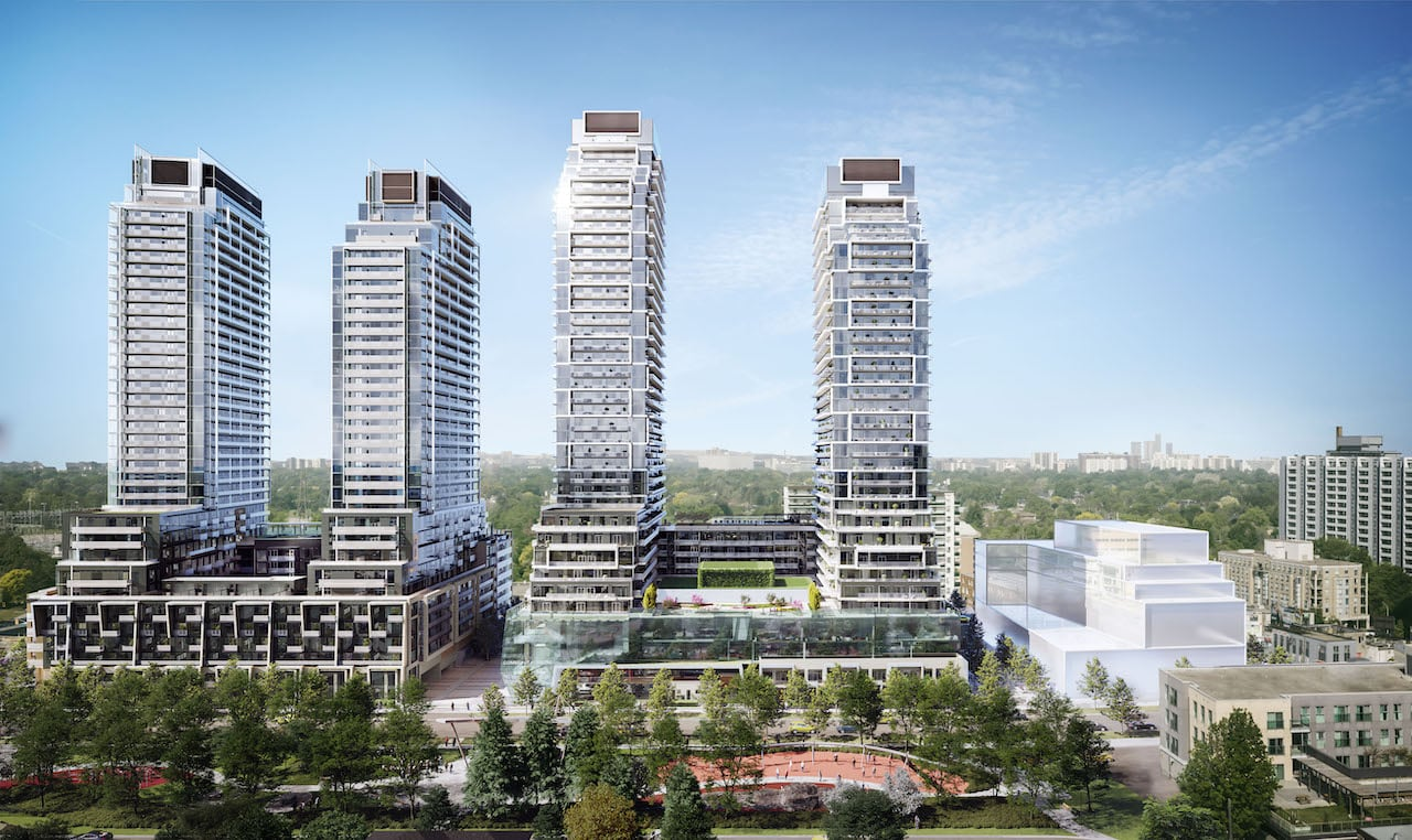 Rendering of M2M Squared Condos park view
