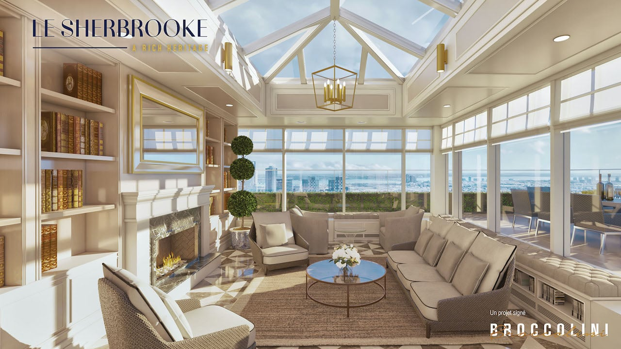 Rendering of Le Sherbrooke Condos exclusive amenities