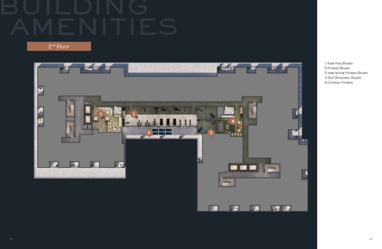 Verge 2 Condos 2nd Floor Amenity Plan