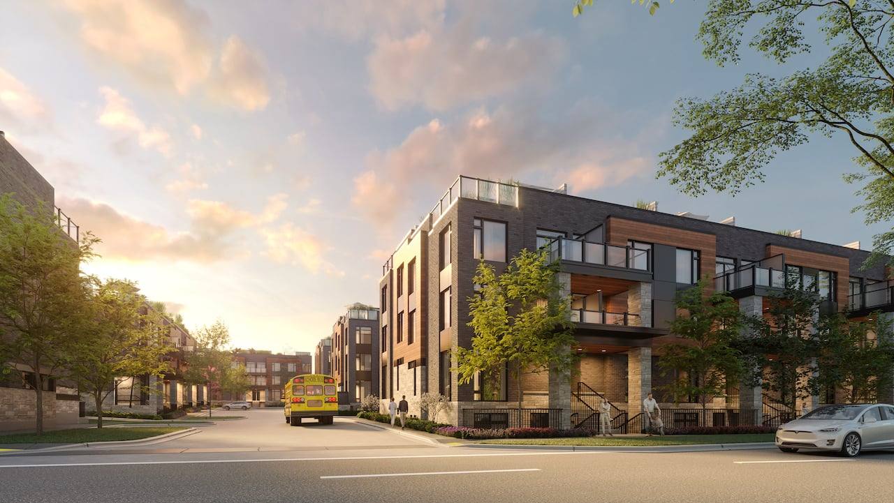 Rendering of The Markdale Towns exterior