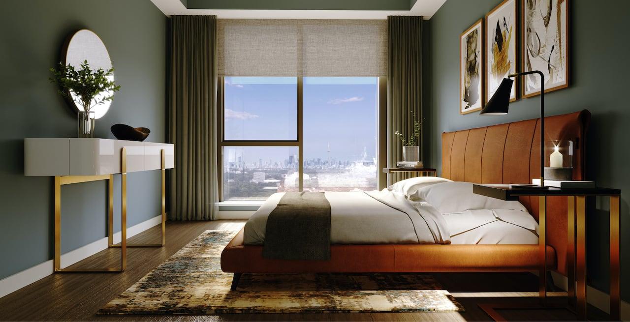 Rendering of Westerly Condos suite interior bedroom