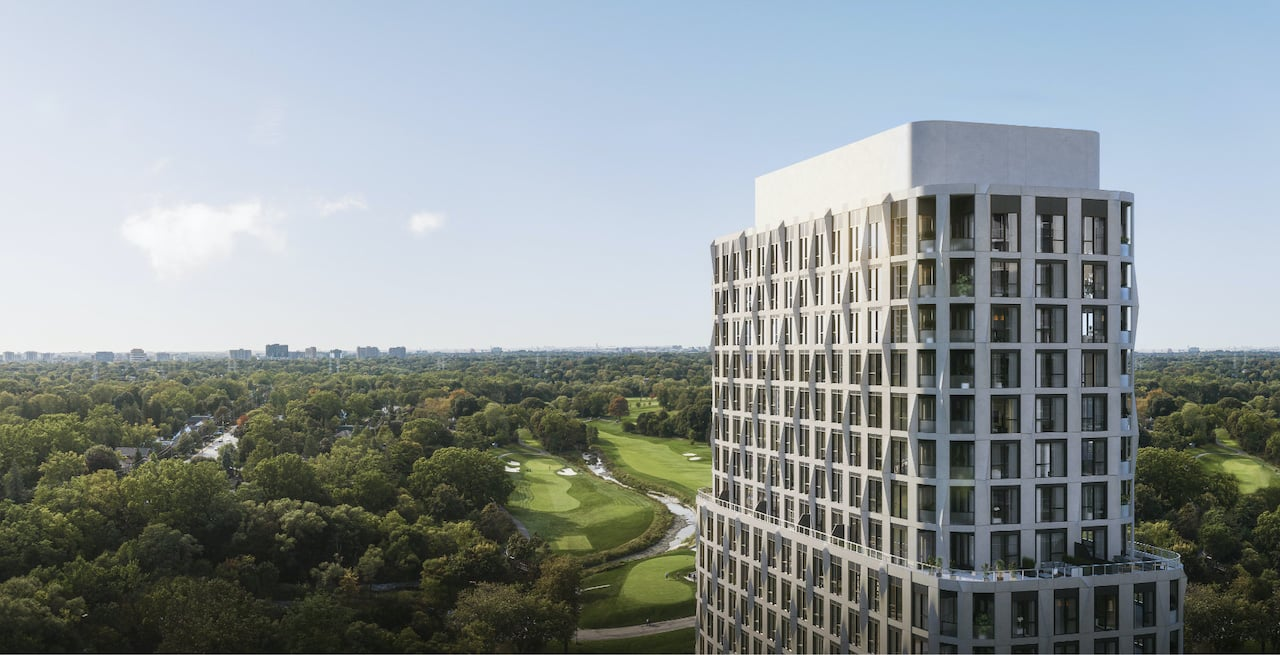 Rendering of Westerly Condos exterior detailed siding and view of greenery